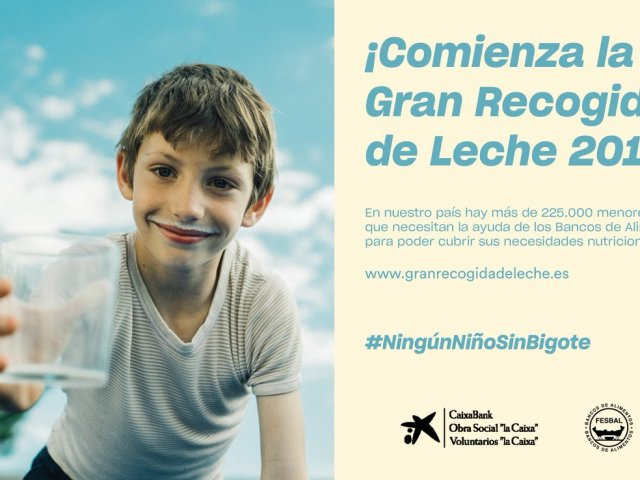 La Asociación de Hosteleros de Málaga colabora en la Gran Recogida de Leche 2019 de Fundación La Caixa