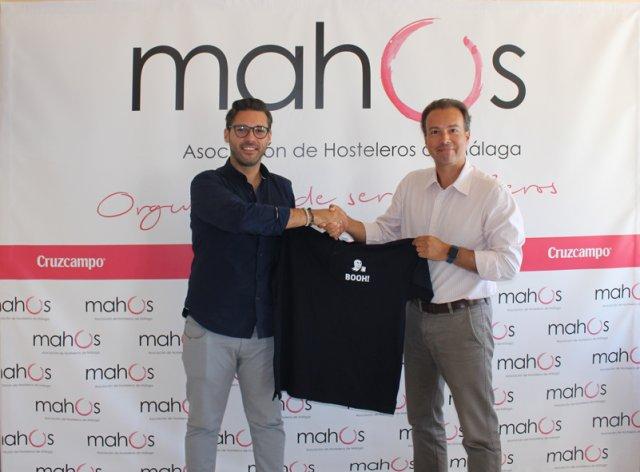 Acuerdo entre Booh food Málaga y asociación de hosteleros