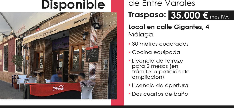 Traspaso local hostelería en Málaga centro